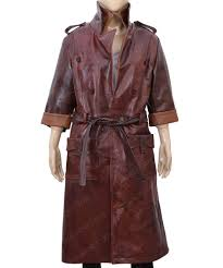 womens dark brown double ted piper coat
