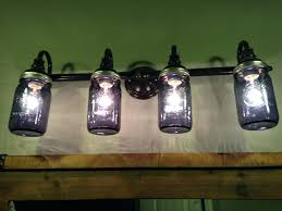 amusing diy mason jar bathroom light fixture mason jar bathroom