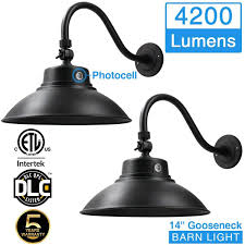 Led Gooseneck Barn Light Amazon Com 14 2in Black Led Gooseneck Barn Light 42w
