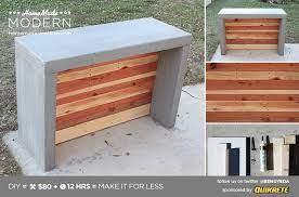 homemade modern ep55 concrete bar