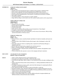 Forklift Job Description For Resume Forklift Operator Resume Samples Velvet Jobs 24