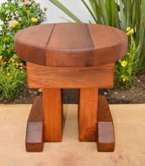 mini round side table options old growth redwood 14 inches tall