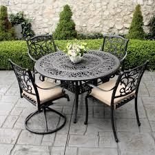 Iron Table And Chairs Set Metal Lawn Furniture Sets