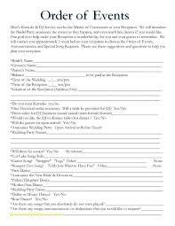 Blank Wedding Day Timeline Template | Madebyrichard.co