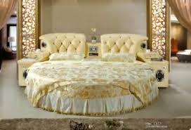 round bed furniture. Luxury Bedroom Furniture Modern Soft Leather Round Bed Round Bed Furniture