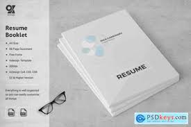 resume booklet resume booklet 8 pages 3582858 free download photoshop