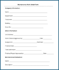 Free Printable Maintenance Request Forms 1201