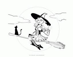 Small Picture Printable Halloween Coloring Pages Witch Coloring Home
