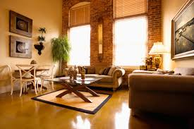 beautiful simple living room with exposed brick wall beautiful simple living