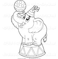 Small Picture Circus Clipart of a Coloring Page Outline of a Cute Circus
