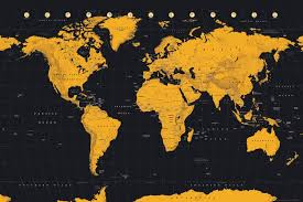 World Map Posters World Map Gold World Map Maxi Poster
