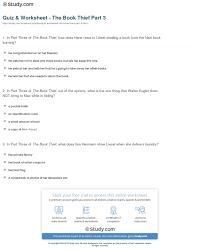 quiz worksheet the book thief part com print the book thief part 3 summary worksheet