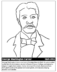 George Washington Carver Coloring Page
