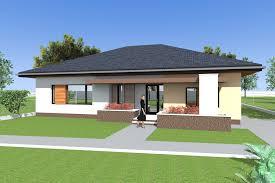 three bedroom bungalow design and d elevations single floor flat roof 3 bedroom house plan