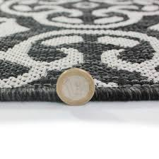 florence anzio flat weave rug in grey