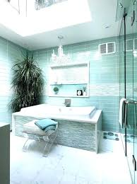 glass tile accent wall bathroom ideas contemporary with handles garden tub shower