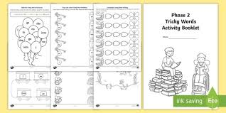 Here you'll find a collection of consonant blend worksheets for use at home or in the classroom. Phase 2 Phonics Tricky Words Activity Booklet Teacher Made
