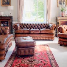 chesterfield sofa leather 3 seater brown edward chesterfield sofa leather 3
