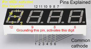 how to drive a 7 segment display directly on raspberry pi in common cathode 4 digit 7 seg pinouts