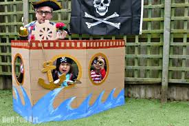 diy pirate ship cardboard craft