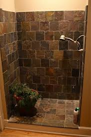 walk in tile showers without doors. dar tiled shower cabin with flower in it walk tile showers without doors