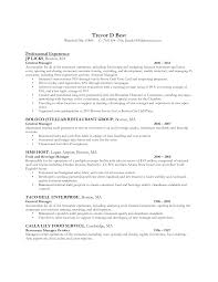 Sample Resume Of Restaurant Manager Monzaberglauf Verbandcom