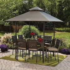 outdoor dining sets with umbrella. image is loading outdoor-patio-dining-set-umbrella-canopy-10-piece- outdoor dining sets with umbrella
