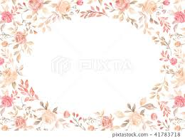 Paper With Flower Border Watercolor Pink Flower Border Paper Background Stock