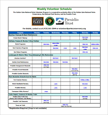 volunteer schedule template. 9 Volunteer Schedule Templates PSD DOC Free Premium Templates