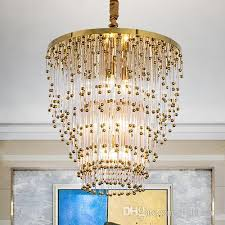 post modern led crystal chandelier dining room pendant artistic lamps nordic modern simple creative personality hotel lobby multi layer lamp multi pendant