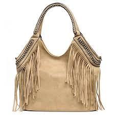 Availcx Fashion <b>Female</b> Shoulder <b>Bags Large</b> Tassle <b>Women</b> Tote ...