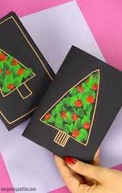 diy fingerprint tree card craft idea for kids to make