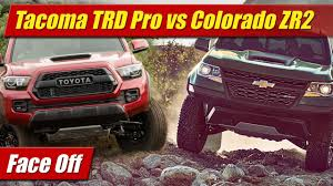 Face Off: Toyota Tacoma TRD Pro vs Chevrolet Colorado ZR2 - YouTube