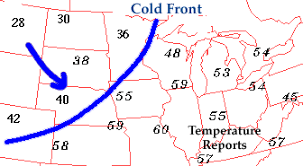 Cold Front Transition Zone From Warm Air To Cold Air