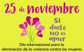 Risultati immagini per Día Internacional de la Eliminación de la Violencia contra la Mujer