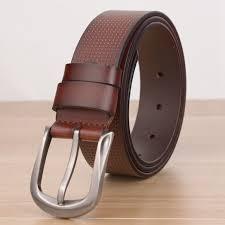 mens red brown genuine leather belt 34 inch men dot design black leather belt hubket