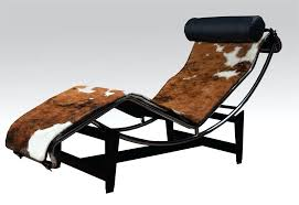 le corbusier lounge chair lc4 in cowhide parts