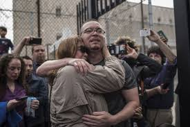 Image result for pictures of people being released from prison