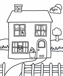 Small Picture House Coloring Pages Printable Design Free For Kids Search Results