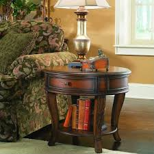 furniture brookhaven round lamp table in distressed clear cherry 281 80 116
