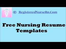 Nurse Resume Template Free How To Create A Nursing Resume Templates Free Resume Templates Free 2
