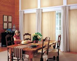 window treatment options for sliding glass doors honeycomb shades with treatments