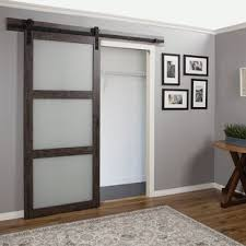 continental frosted gl 1 panel ironage laminate interior barn door