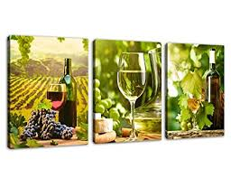 kitchen canvas art grapes wine bottle pictures for dining room wall decor 3 pieces canvas on wine and dine canvas wall art with amazon kitchen canvas art grapes wine bottle pictures for