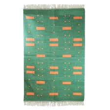 4x6 cotton rug green meadow cotton area rug in green with orange patterns home ideas show 4x6 cotton rug