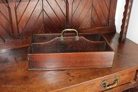 late georgian mahogany cutlery tray brass handle antique