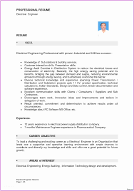 Cv Profile Examples Electrician For Electrical Engineer