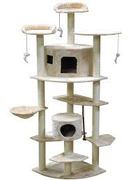 go pet club f inch cat tree beige amazonca pet supplies