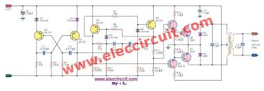 inverter 12v to 220v 100w by transistor eleccircuit com circuit inverter 100w 12v to 220v by transistor