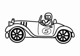 Kleurplaat Oldtimer Raceauto Vaderdag Coloring Pages Coloring